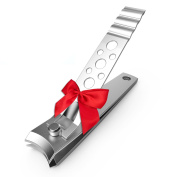 Pro Quality Nail Clippers - Razor Sharp Toe Nail Cutter - Great Stocking Stuffers - Bonus Fingernail and Toenail File - Best Quality Stainless Steel Kit :-)