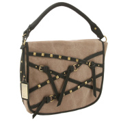 Buffalo David Bitton Fold Over Canvas and Leather Fashion Handbag