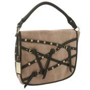 Buffalo David Bitton Fold Over Canvas and Leather Fashion Handbag