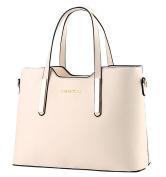 King Ma Women's Leather Shoulder Bags Top-Handle Handbag Tote Bag