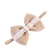 Alonea Fashion Girl Diamond Head Accessories Hairband Baby Elastic Flower Lace Headwear