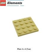 Lego Parts: Plate 4 x 4 (Tan)