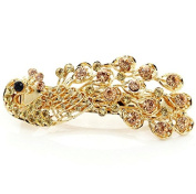 Interesting Hight Quality Retro Lady Girl's Full Crystal Rhinestone Peacock Barrette Hairpin Hair Clip