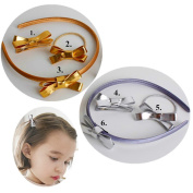 CellElection Multi Choice Boutique Girls Bow Tie Baby Pinwheel Hair Bow Alligator Clips and Beautiful Headbands as A Set