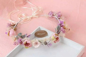 Gypsophila Baby's Breath Flower Hair Crown Garland Vintage Headband :S22