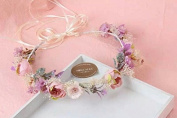 Gypsophila Baby's Breath Flower Hair Crown Garland Vintage Headband :S22