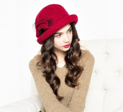 Asian Style Lady Bucket Hat & Elegant Lady Keep Head Warming By This Cap