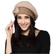 Lady Pumpkin's Style Woollen Beret Winter Hat & Elegant Lady Keep Head Warming By This Cap