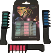 Hair Chalk Comb Set for Beautiful Salon Hair Highlights. Temporary Hair Colour Applicator. Hair Salon Toy. Paint & Style Hair Care - No Need to Wet Hair. Ready in Minutes. 3 in one Box