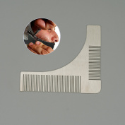 Beard Styling Shaping Template Comb Trim Facial Carding Stainless Steel