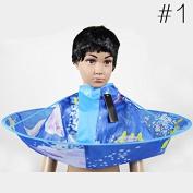Gracefulvara Hair Stylist Cutting Apron Cartoon Cloth for Kids,1#