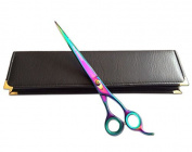 Professional Hairdressing Barber Cutting Scissors Titanium Shears 22cm Length Razor Edged with 30 Days Return Policy + Free Leather Pouch