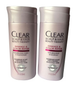 Travel Size CLEAR SCALP & HAIRTM Damage & Colour Repair Nourishing Shampoo and Conditoner, 50ml Each 3 Sets