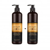 Argan De Luxe 100% Pure Organic Moroccan Argan Oil Nourishing Shampoo & Conditioner 500ml (Shampoo+Conditioner 500ml) by Argan Deluxe