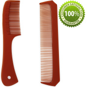 Unisex Hair Comb Kit for Men & Women - Styling Comb Set for Long & Short Hair - Wide Tooth Styling Comb Hair Detangler for Shower - Fine Tooth Pocket Handle Comb for Volume & Moustache & Beard Grooming