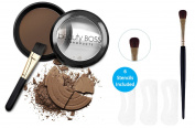 BB's Brow-Duty All-day Eyebrow Colour Kit | Water Resistant Powder Makeup, Stencils & Eyebrow Brushes, Dark Brown