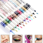 YANQINA 12 Colours/Pack Glitter Lip liner Eye Shadow Eyeliner Pencil Pen Makeup