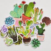 42pcs Self-made Potting Plants Scrapbooking Stickers Decorative Sticker DIY Craft