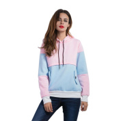 Women's Sweater,Neartime Long Sleeve Patchwork Hoodies Casual Tops Women Fashion Pullover