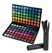 Makeup Kit Set, SQDeal Luxury Pack of 120 Full Colours Natural Eyeshadow Makeup Palettes with Box + 5 Make Up Brushes Set with Holder