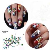 Colourful Flat Nail Crystal Rhinestones For Nails Mixed Sizes Rhinestones For Nails Moon Star Round Shape 100Pcs Sindy