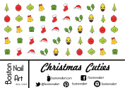 Christmas Cuties - Waterslide Nail Decals - 50pc