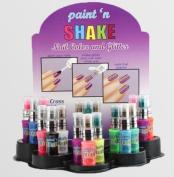 Paint 'N Shake Glitter & Nail Polish Lot of 5