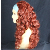 Curly Copper Red 3/4 Fall Hairpiece Long Curly Layered Half Wig Hair Piece UK by Wiwigs