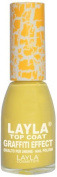 Layla Cosmetics Graffiti Top Coat N.3 Yellow Nail Polish by LAYLA COSMETICS