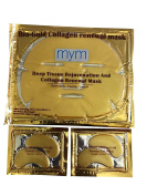 MyM 24k Gold Collagen Crystal Mask for Deep Tissue Rejuvenation and Collagen Renewal Mask(10pck of facial mask +10pck of eye mask
