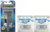 DORCO Platinum PL602 Razor and 12 Doouble Edge Blades
