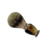 GOLDDACHS shaving brush, 100% Badger hair, imitation horn handle