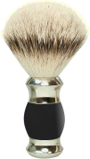 GOLDDACHS Shaving brush, 100% Silver Tip Badger hair, black/silver,