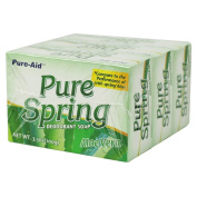 Pure-Aid Pure Spring Aloe Vera Bar soap-3ct