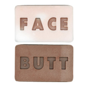 (Set/2) Butt Face Soap - 2 Sided Colour-Coded Bath & Shower Cleansing Bar