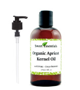 100% Organic Apricot Kernel Oil | Imported From Italy | 240ml Bottle | 100% Pure | Natural Moisturiser for Skin, Hair and Face | By Sweet Essentials
