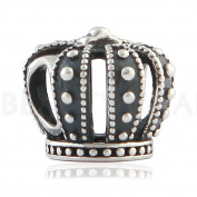 BEAUTY CHARM 925 Sterling Silver Royal Crown DIY Fashion Beads