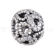 BEAUTY CHARM 925 Sterling Silver Bead DIY Zircon Love Charm