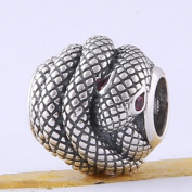 BEAUTY CHARM 925 Sterling Silver Snake Beads DIY Fashion Bracelet Charm