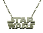 Star Wars Text Logo Necklace Silver Chrome Rock Rebel Original Licenced Product