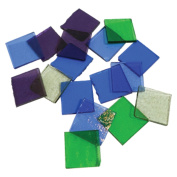 Fuseworks Cool Colours Squares 18 Piece Assortment - 90 COE