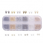 Bingcute Jewellery Findings Kit 10mm Lobster Claw Clasps and Jump Rings for Jewellery Making