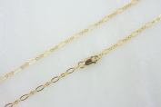 14k Gold Filled 2.5x4.5mm Long and Short Oval Chain Necklace W/ 14K Gold Filled Lobster Clasp