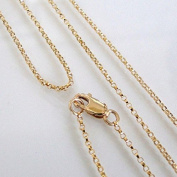 14k Gold Filled 1.1mm Rolo Chain Necklace W/ 14K Gold Filled Lobster Clasp