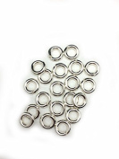 20 Sterling Silver Round Open Jump Rings 6.7mm 14 Gauge by Craft Wire