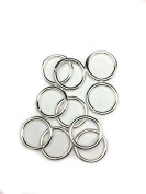 10 Sterling Silver Round Open Jump Rings 17.1mm 12 Gauge by Craft Wire
