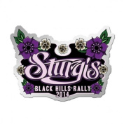 2014 Sturgis Motorcycle Rally Hand Painted Ladies Pin