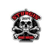 2014 Sturgis Motorcycle Rally mc biker Human Skull Pin