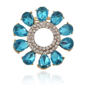 Hosaire Girl's Delicate Garland Brooch Pin With Rhinestones Women's Fashion Jewellery