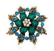 Hosaire Retro Crystal Leaves Brooch Pin With Rhinestones Women's Fashion Jewellery